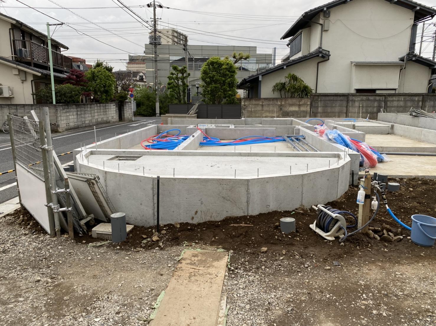 赤塚新町 基礎工事